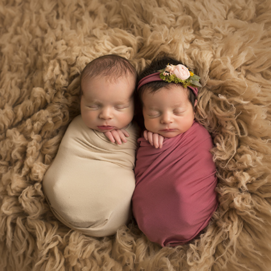 Boy Girl Twin Newborn Photography